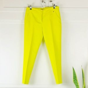 Trina Turk Yellow Pencil Ankle Pants size 6